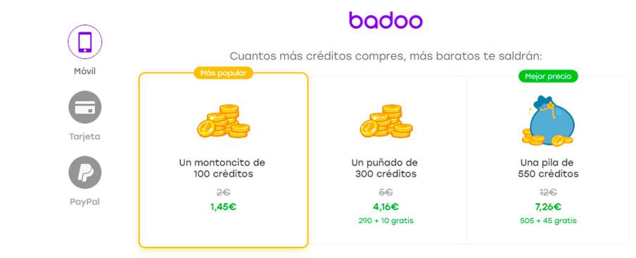 Créditos Badoo Premium