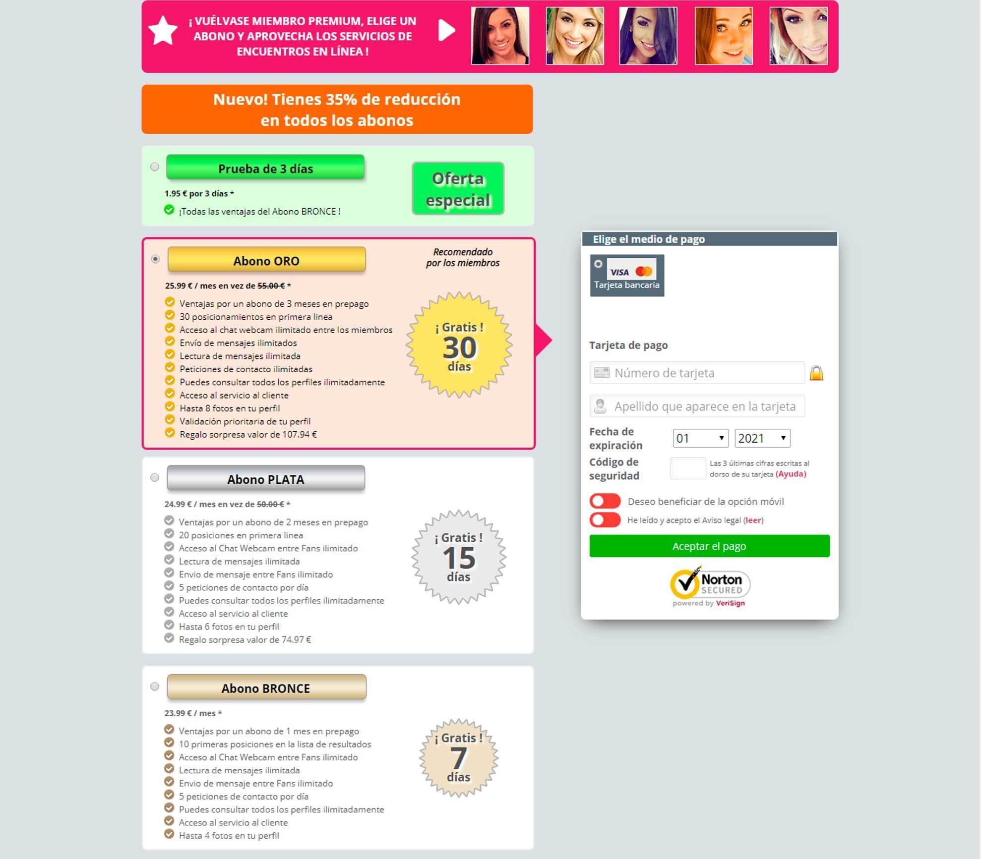Precio EncuentraMaduras.com